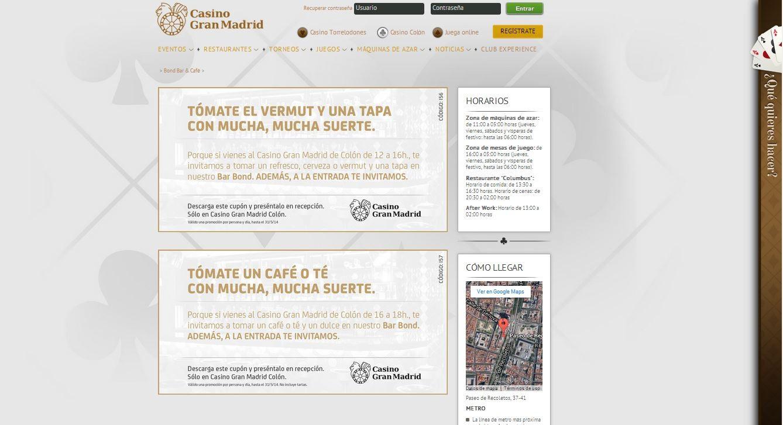 Casino Gran Madrid Colón. Abran juego!