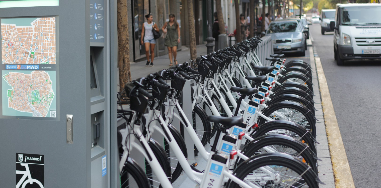 BiciMAD. The public bike rental service in Madrid