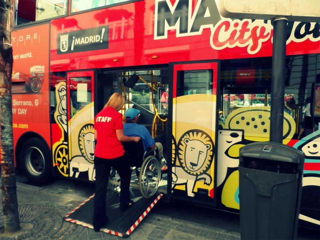 Madrid City Tour. An accessible tourist bus.