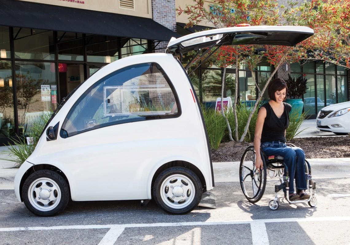 Kenguru. El coche para sillas de ruedas