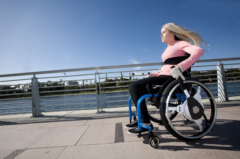 NuDrive Air - Instant Wheelchair Self-Propulsion