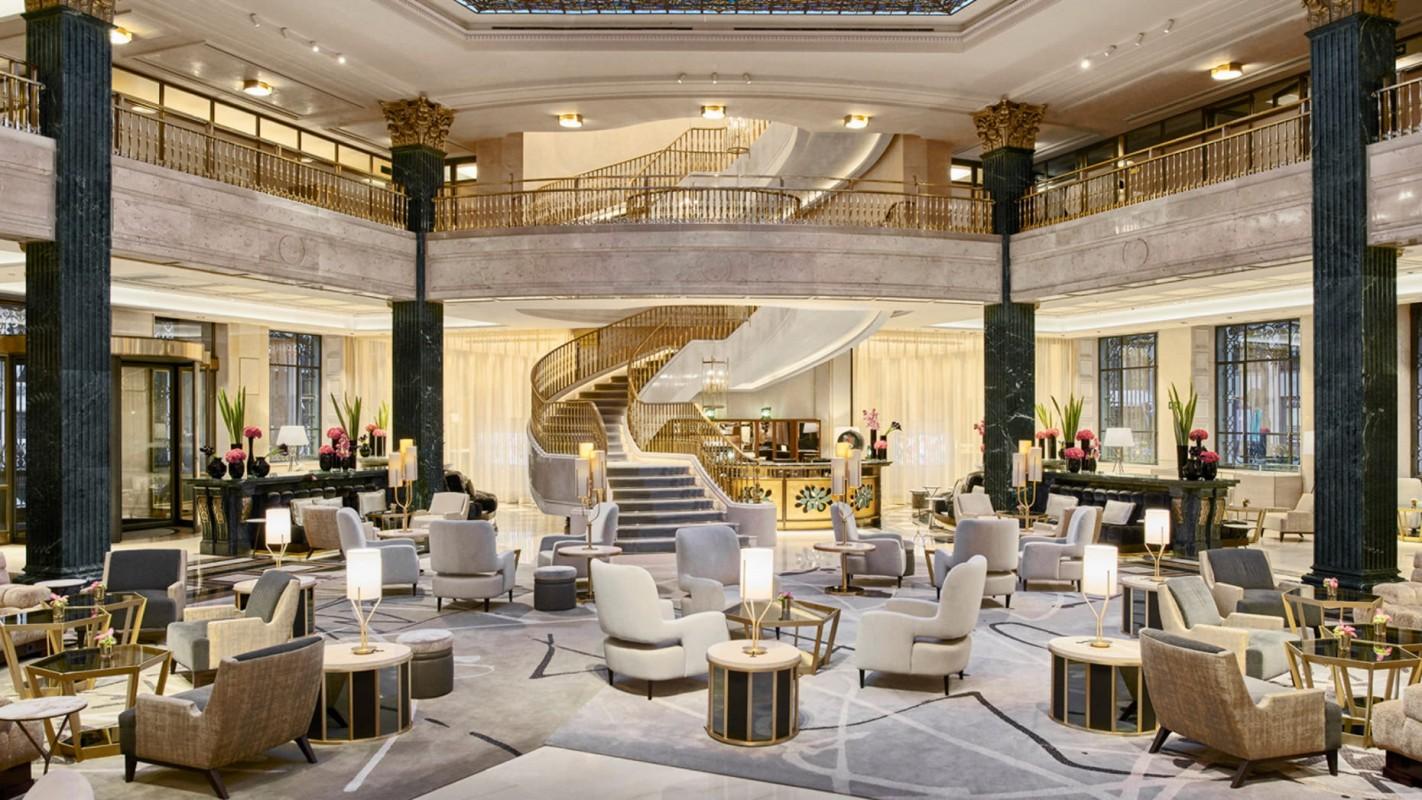 Grand Lobby Four Seasons Hotel Madrid