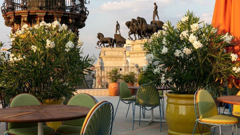 Terraza de la Brasserie de Dani García