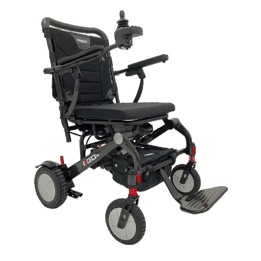 Pride i-Go Lite ultralight folding power chair with carbon fiber frame