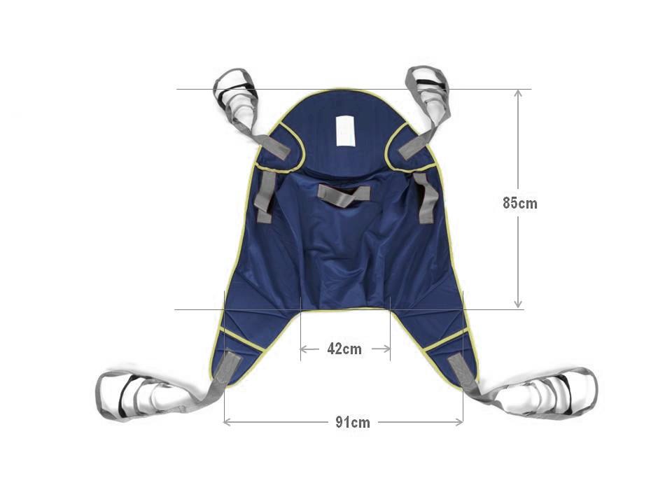 Libercar padded sling for transfer hoists