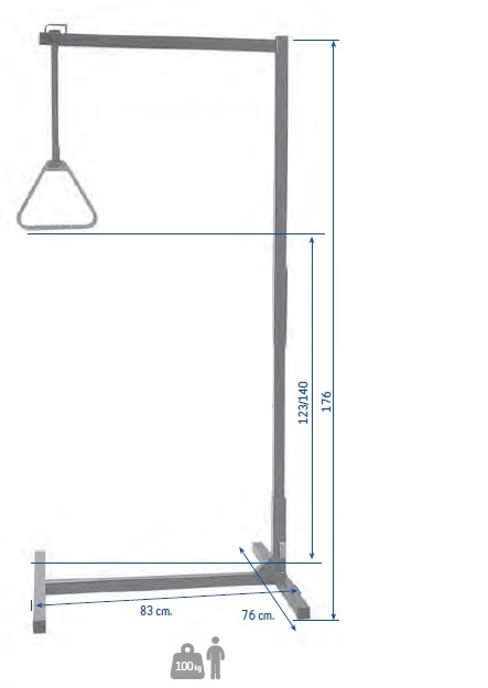 Mobile Trapeze for people with limited mobility