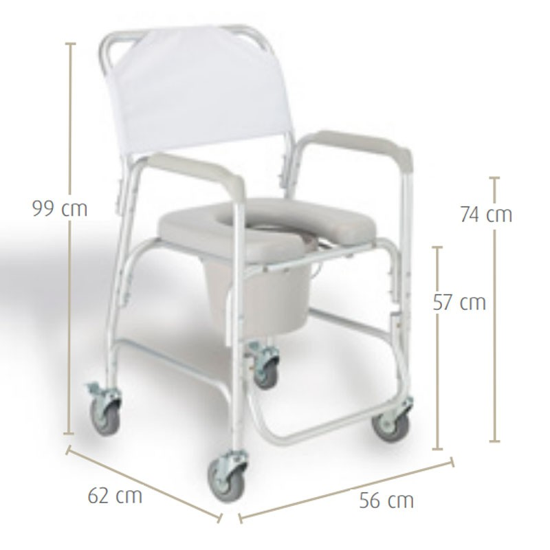 Chair for shower and toilet seat in U