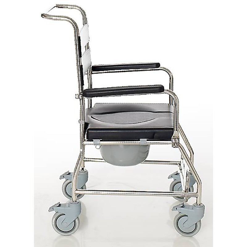 Iguazu shower chair with toilet and wheels