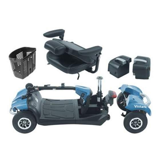 Vista scooter eléctrico desmontable