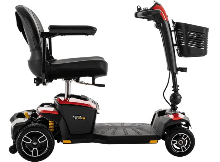 Pride Zero Turn 8 scooter desmontable de tamaño medio
