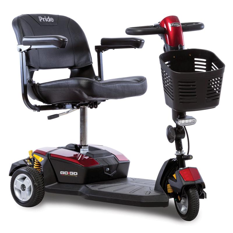 Pride GoGo LX 3R scooter desmontable con suspensión CTS