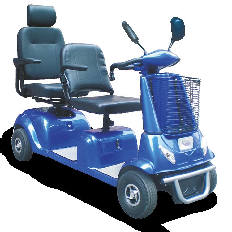 Marshell Doble Asiento scooter de movilidad de 2 plazas