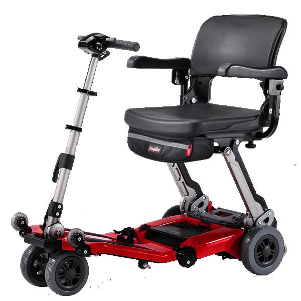 Luggie Super scooter de movilidad plegable para usuarios grandes