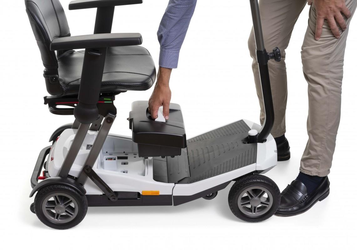 Apex i-Luna scooter de movilidad de plegado automático