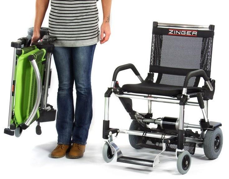 Zinger silla de ruedas eléctrica ligera plegable