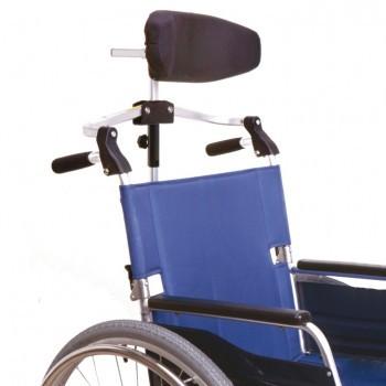 Foldable wheelchair headrest