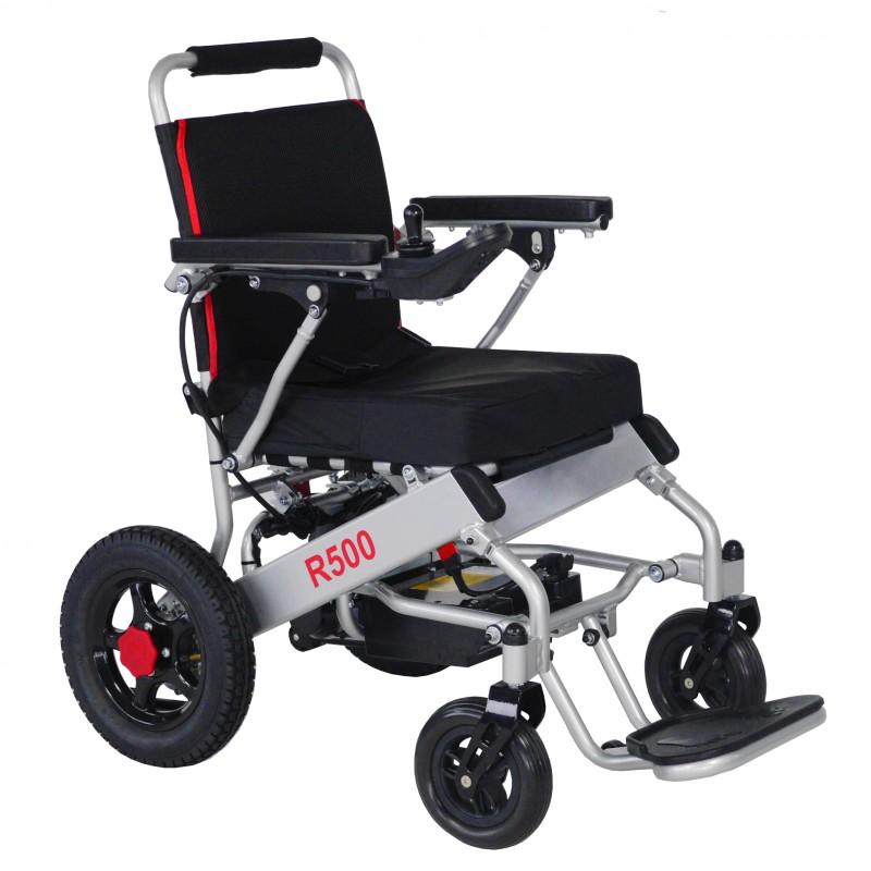 R500 silla de ruedas eléctrica plegable ligera