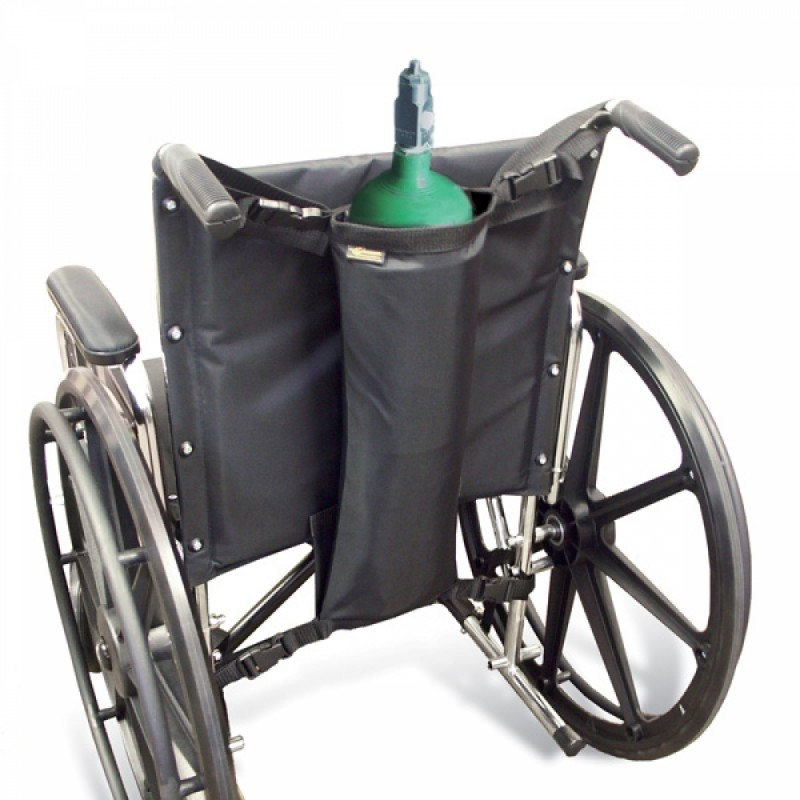 Robust bag with reinforcements at the bottom for oxygen cylinders