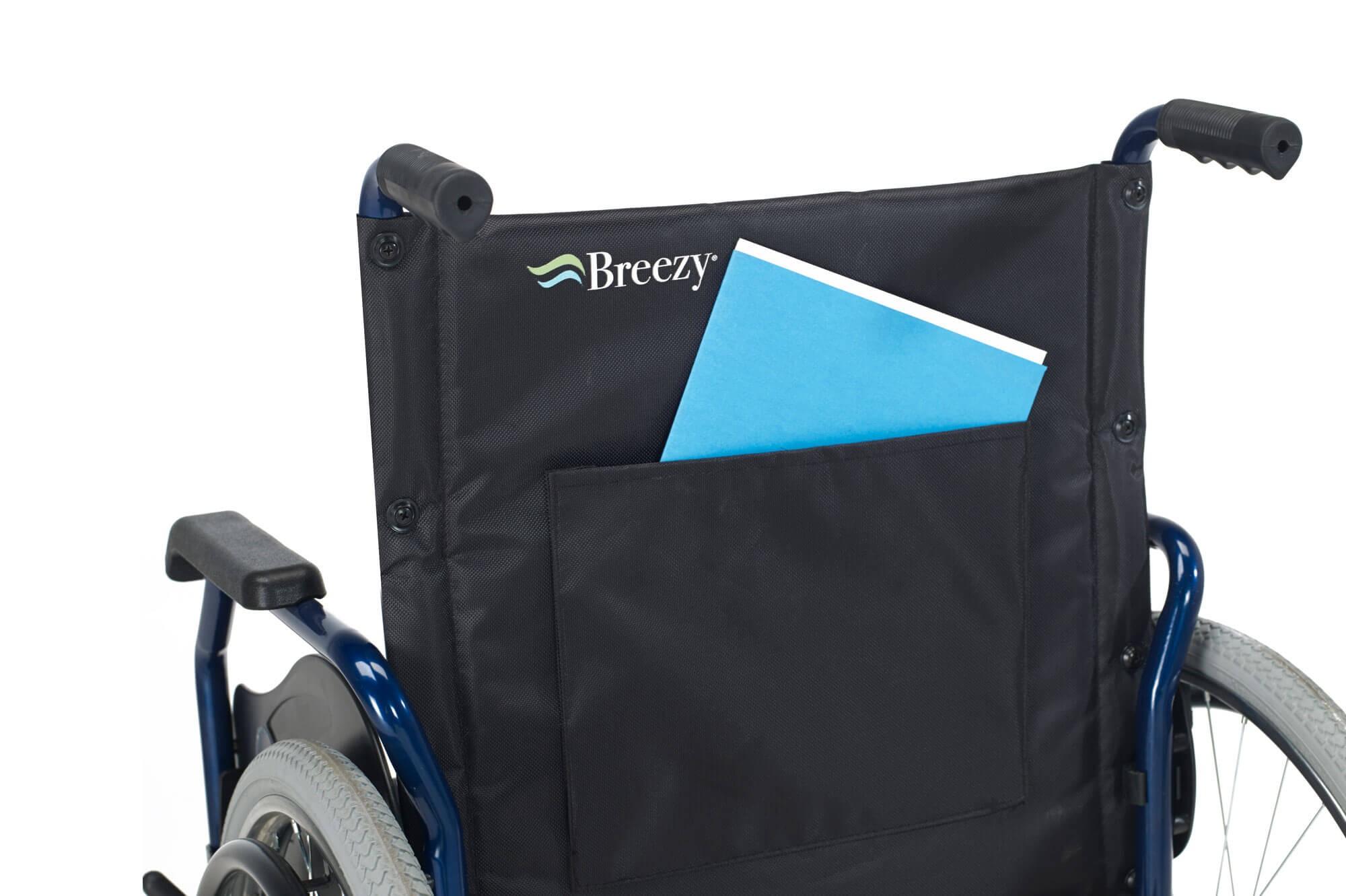 Breezy 90 silla de ruedas manual autopropulsada de acero