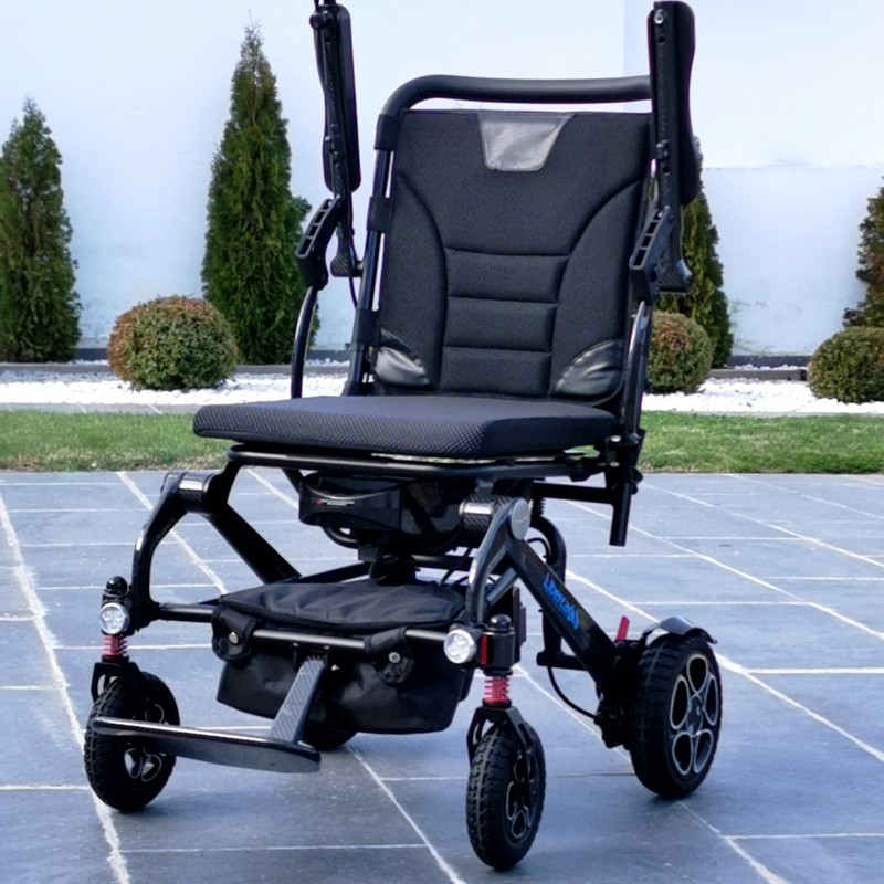 Libercar Alma silla de ruedas eléctrica plegable ultraligera de fibra de carbonoLibercar Alma silla de ruedas eléctrica plegable ultraligera de fibra de carbono
