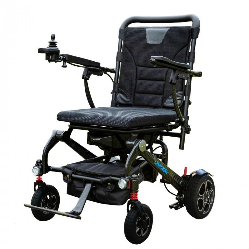 Libercar Alma ultralight folding power chair with carbon fiber frame