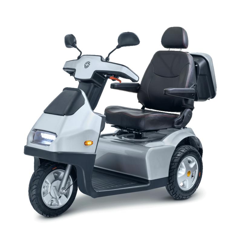 Afiscooter S3W Scooter Eléctrico Heavy Duty de 3 ruedas