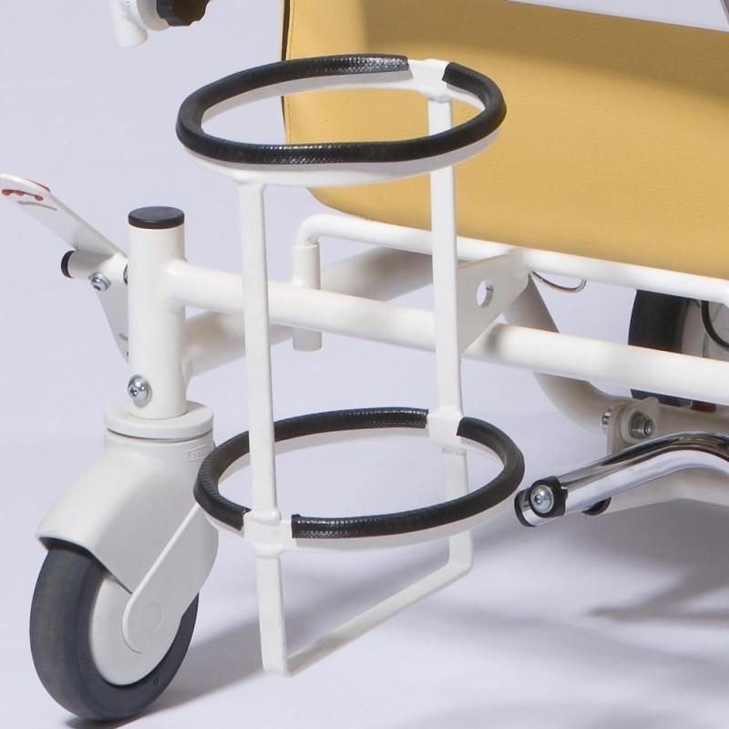 Soporte de bombona de oxígeno para sillón geriátrico